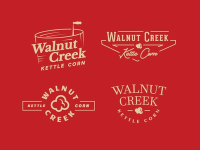 Walnut Creek Kettle Corn Logo Options