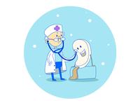 Doctor, Ice cream, Snow, Winter