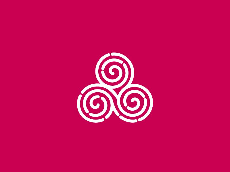 Triple Spiral fertile spiral triple celtic symbol
