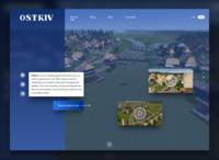 Ostriv game - landing page