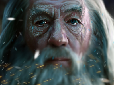 Gandalf gandalf tolkien middleearth wizard fantasy beard ian mckellen hollywood peter jackson lord of the rings the hobbit hobbit digital painting painting drawing
