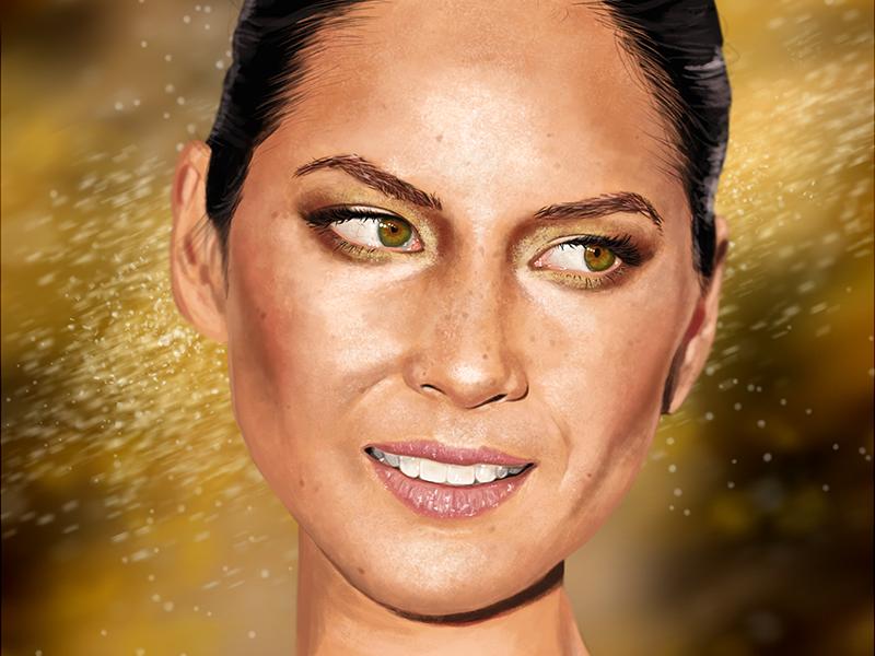 Olivia Munn digital painting olivia munn actress beauty painting photoshop wacom