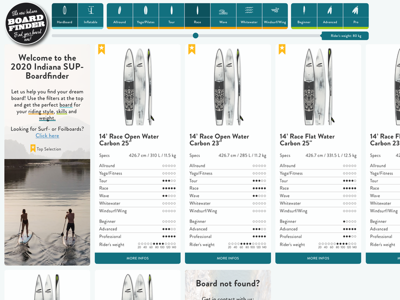 Indiana Boardfinder marketing website responsive ui user experience