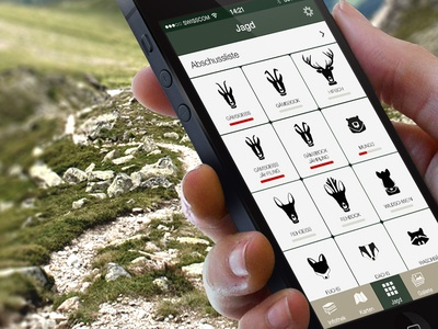 Chatschadapp hunting app prototype mockup iphone