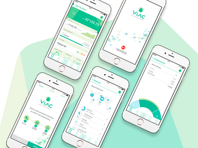 Composition VIAC App Screens award winning fintech finance app