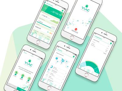 Composition VIAC App Screens award winning fintech finance app
