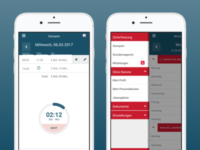 Timetracking Software mobile uiux mobile ui mobile app user experience ux user experience ui