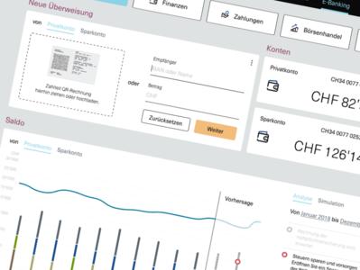 Visual Mockup for a E-Banking Application design app fintech web ui user experience ux finance