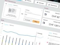 Visual Mockup for a E-Banking Application