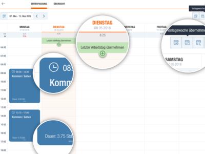 Time Tracking Visual Mockup ui user interface ux ui design visual user experience