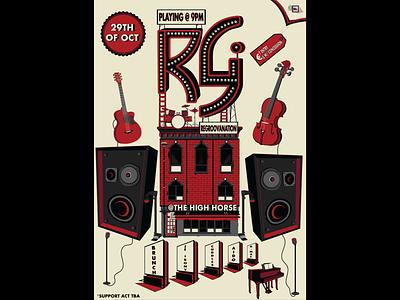 Regroovanation(Band Poster) hip rg modern new digital illustration art music