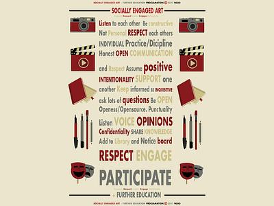 Socially Engaged Art - PROCLAMATION art education style new graphic design illustration