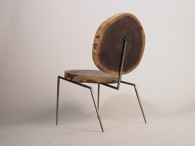 Reclaimed Walnut Lounge Chair