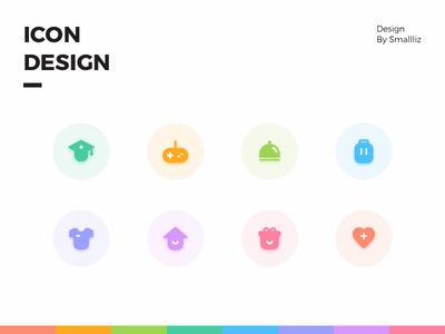 icon design colour cute illustration design flat icon