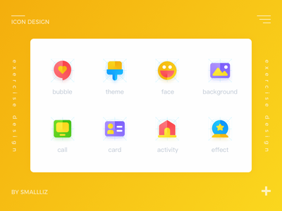 Icon design logo cute illustration design flat icon