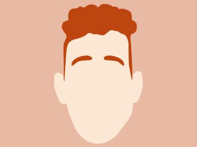 Braxton aka 3raxton minimalist vector flat personal self-portrait selfie genius portrait character avatar illustration face