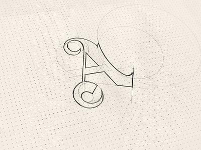 Sketch Logo An An branding design creative icon symbol mark logotype logo sketch hotel gothic font