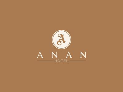 Logo An An design creative icon symbol mark logotype logo hotel gothic classical yellow round