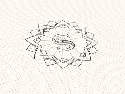 Logo Sunflower Hotel 02 icon creative drawn brand sunflower logo symbol sketch branding flower hand hotel