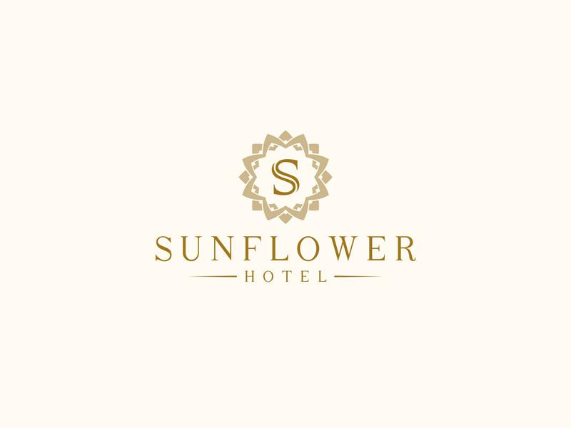 Logo sunflower hotel 06 by fancy design dribbble for Hotel logo design