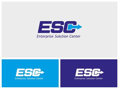 Logo Esc icon logo logotype branding technology blue hand typography identity black develop white
