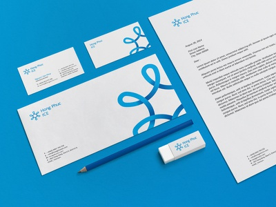 Hong Phuc | Brand Identity creative logo icon design identity brand branding symbol snow ice loop blue