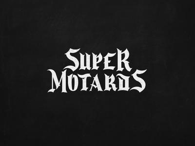 Logo Super Motards motorcycle race supermoto lettering monogram identity branding design creative logotype logo