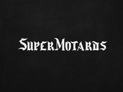 Logo Super Motards supermoto race motorcycle lettering monogram identity design creative branding logotype logo