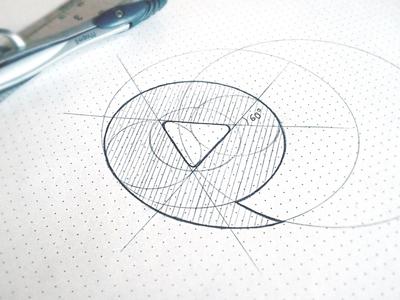 Viddler Symbol Sketch video play talk logo design creative icon symbol