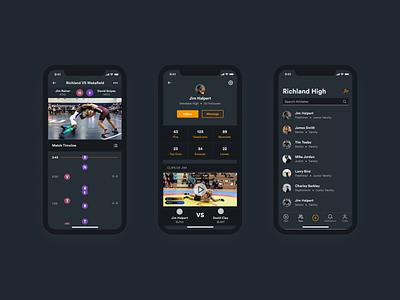 Wrestling Video App stats timeline video sport app