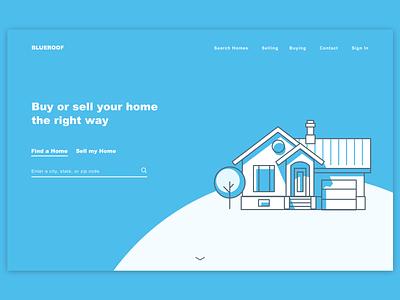 Real Estate Banner sketch illustraion web design real estate landing page