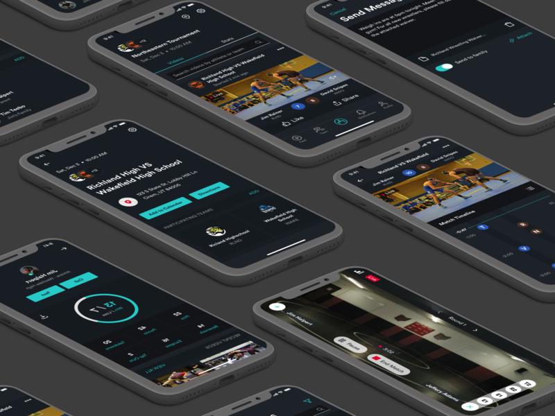 Wrestling App app design sketch figma ios