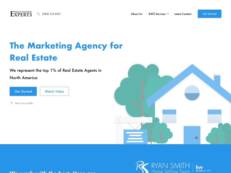 Landing Page for Marketing Agency landing page illustraion web design