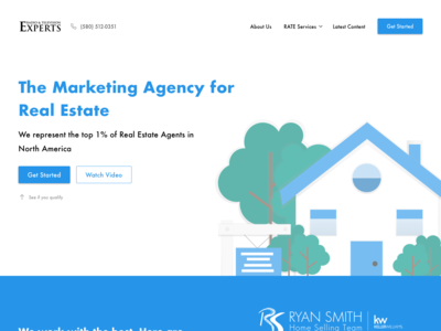 Landing Page for Marketing Agency landing page illustraion web design