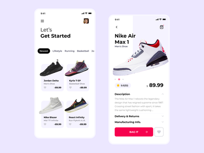 Shoes App UI shoes app nike shopping shoes dashboard ui dashboad app design app design ux ui experience