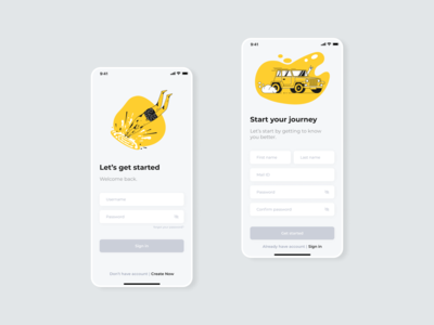 The Learning App - Sign-in / Sign-up