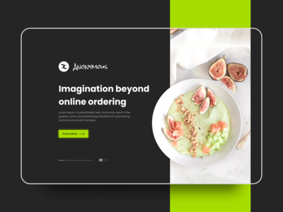 Food Landing Page Design #2