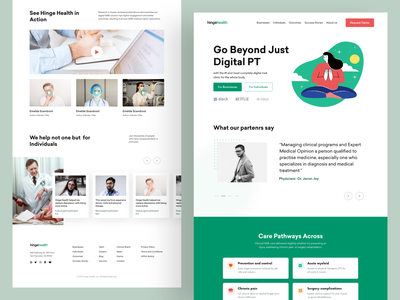 Digital Health Care Landing Page medical app meditation health app illustraion website design product design saas landing page wealth management doctor ux ui medicine medical landing page health website landing page homepage healthcare