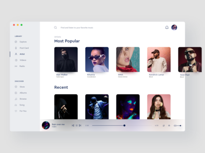 Music Ui Desktop Design 🎵