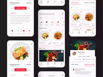 Restaurant Food Application visual interface application ux user interface design ui ux design ui restaurant home restaurant food app design restaurant design ios mobile application ios food order food illustration food app ui food application design food app food and drink ar food app app concept app