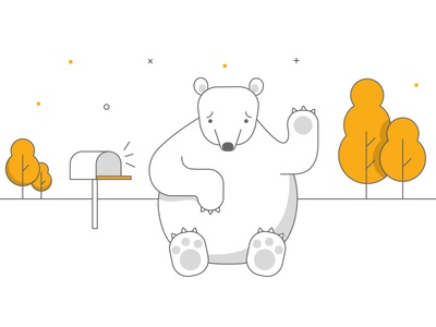 we will miss you! :( goodbye cancel mail outline trees sad bear unsubscribe