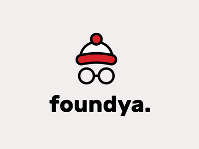 foundya app branding waldo wally location app logo