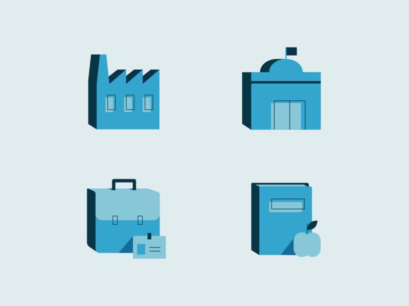 retirement calculator icons vector iconography professions job teacher private public retirement illustration iconset icons