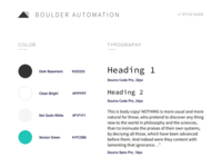 Boulder Automation Style Guide v1