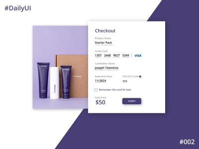 Daily UI Challenge #2 Checkout Screen ux app design app concept dailyuichallenge dailyui 002 dailyui ui