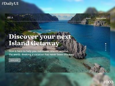 Daily UI Challenge #3 Landing Page ux ui dailyuichallenge dailyui 003 dailyui webdesig website