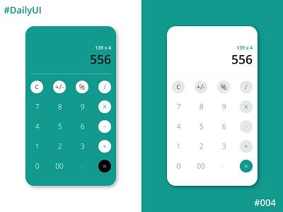 Daily UI Challenge #4 Calculator calculator app calculator ui calculator dailyuichallenge dailyui004 dailyui
