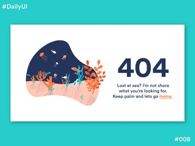 Daily UI Challenge #8 404 Page page error 404 error page 404 under the sea dailyuichallenge008 dailyui008 ui dailyuichallenge dailyui