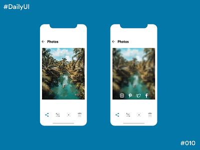 Daily UI Challenge #10 Social Share app design ux app design app concept ui dailyuichallenge dailyui