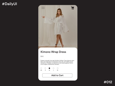 Daily UI Challenge #12 E-commerce Website app design ux app design app concept ui dailyuichallenge dailyui